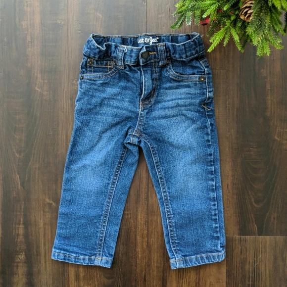 0eeff9419 Cat & Jack Bottoms | Cat Jack Toddler Boy Straight Jeans 18 Months ...